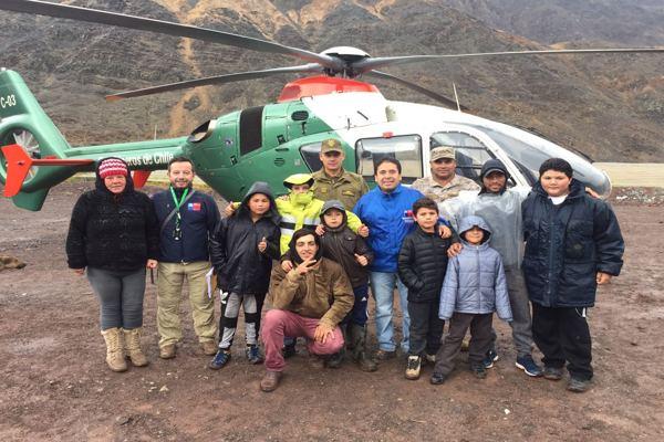 Carabineros sobrevuelo zona de emergencia en Atacama