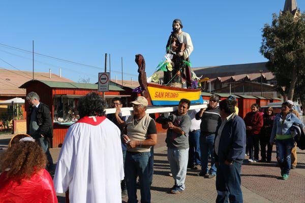 Pescadores preparan fiesta de San Pedro en Caldera