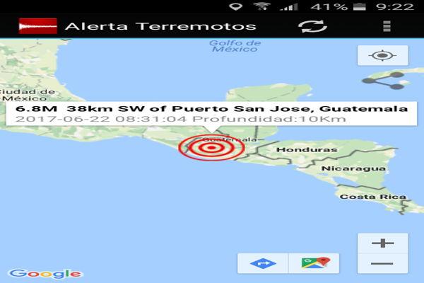 Un terremoto de 6,8 sacude Guatemala