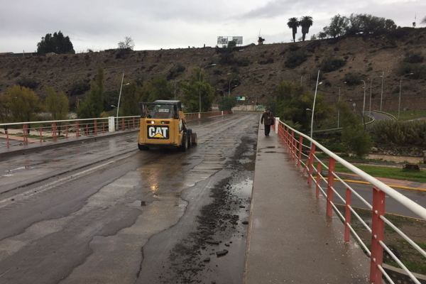 En Vallenar Frente de mal tiempo registra 31.5 mm agua caída