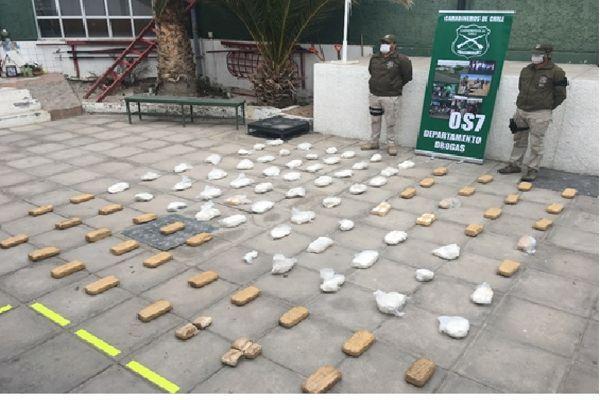 Mas 800 mil dosis de pasta base incauto O.S.7 Atacama