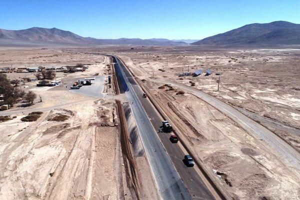 Un 70% de avance presentan las obras que se están realizando en la Ruta 5, sector Aguas Verdes de Taltal
