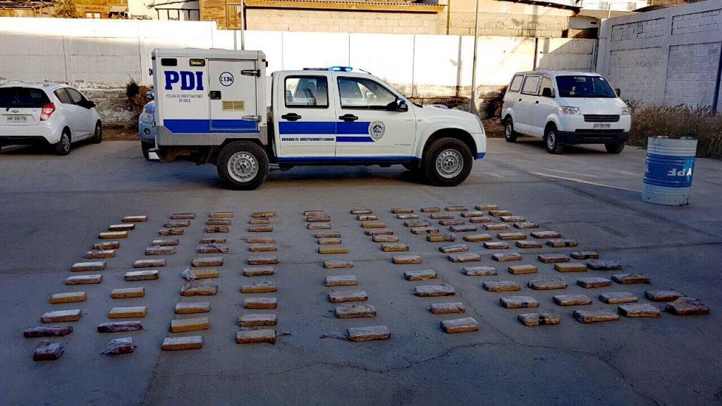 PDI incauta cerca de 100 kilos de droga en Chañaral