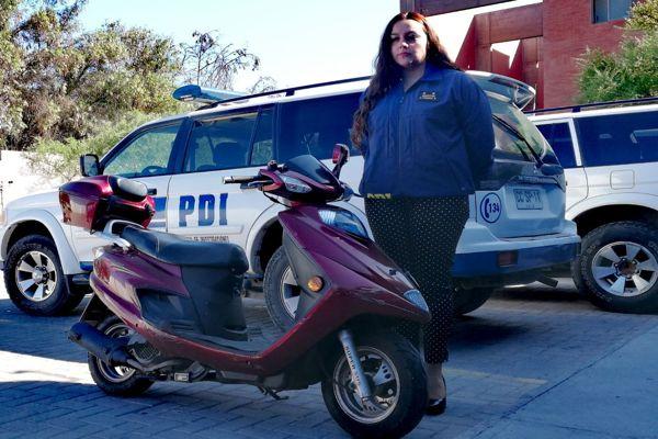 Detectives recuperan moto con encargo por robo