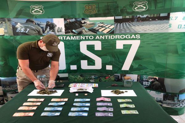Carabineros detuvo a sujeto dedicado al microtrafico de drogas