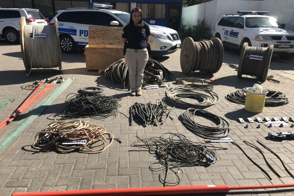 PDI recupera tres toneladas de cobre sustraído a minera candelaria