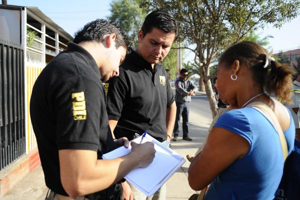 PDI detecta a cinco extranjeros irregulares y dos chilenos infractores