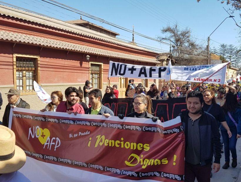 Copiapinos marcharon por las calles de la ciudad en contra de las AFPs