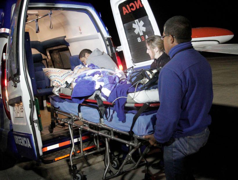 El pequeño Guillermo Salinas vuelve a Copiapó tras agravarse su salud