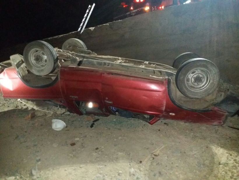 Un hombre falleció luego de volcar su camioneta en Diego de Almagro