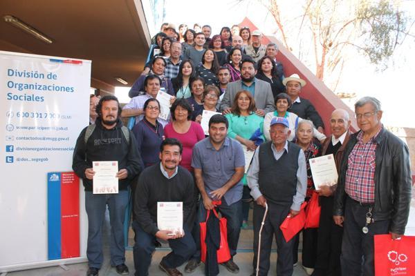 Escuela de Formación Ciudadana capacitó a más de 60 dirigentes sociales de Diego de Almagro