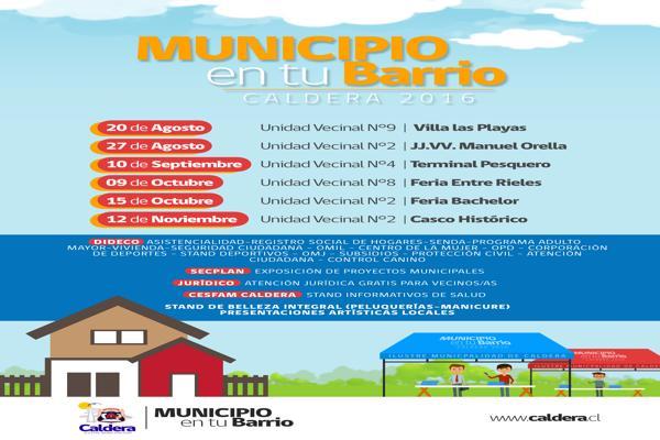 Municipio en tu barrio en Caldera