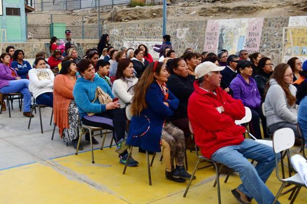 Vecinos de quiero mi barrio Chañaral,tienen nuevo comité para la nueva construcción de cierres perimetrales