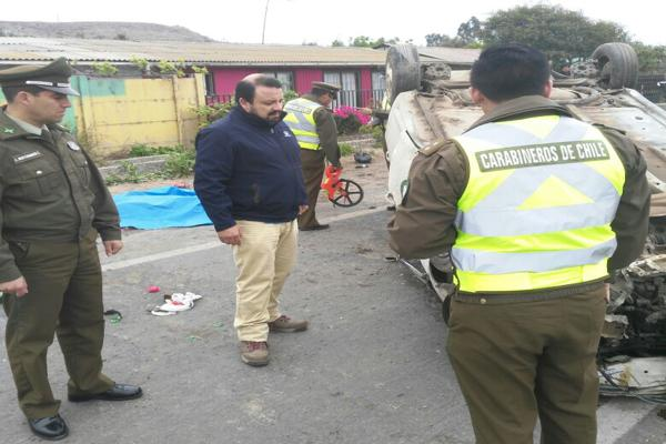 Fiscalía indaga fatal accidente ocurrido la madrugada de este sábado en Huasco