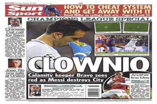 «The Sun» destroza a Bravo en su portada
