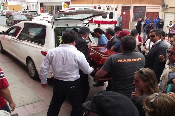 Chañaralinos despiden a Sebastian Zamora tras sufrir un grave accidente