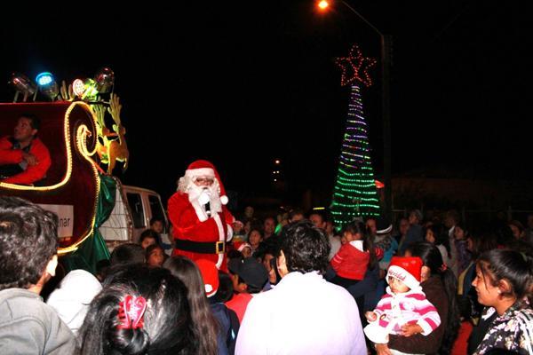 Vallenar iluminó con la navidad distintos puntos de la comuna