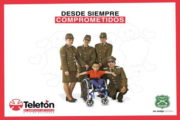 CARABINEROS DESDE SIEMPRE COMPROMETIDOS CON LA TELETÓN