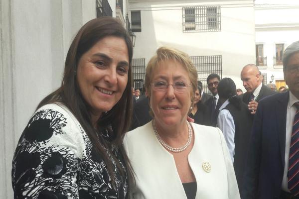 Alcaldesa de Caldera participa en desayuno con Presidenta Bachelet