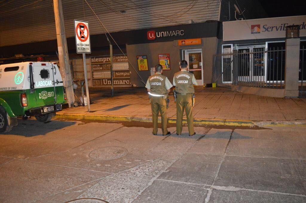 Carabineros permitió frustrado robo a cajero serviestado