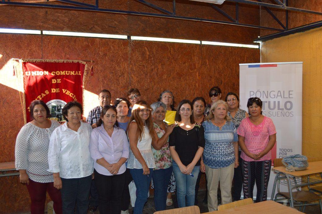 Dirigentes vecinales de Copiapó se capacitaron para prevenir irregularidades de la pequeña propiedad raíz