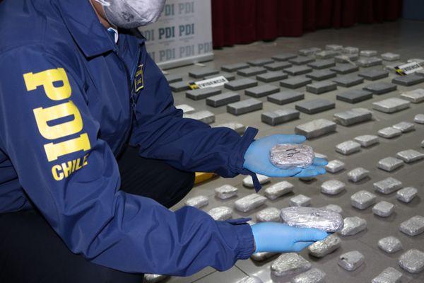 PDI Decomisa droga avaluada en mas de $ 1.600 millones en Copiapo