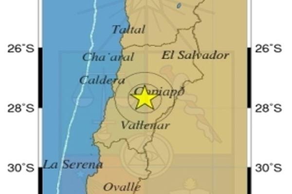 Un sismo 5,1° Richter se percibió esta mañana en Atacama