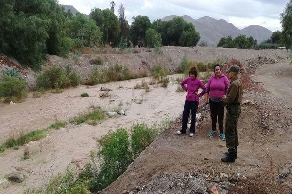Carabineros continua con labores preventivas en zonas de riesgo de inundaciones