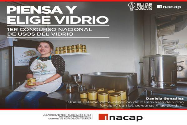 INACAP y Cristalerías de Chile lanzan primer concurso nacional «Piensa y Elige Vidrio»