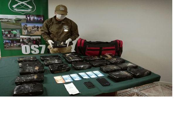 O.S.7 de carabineros Atacama detuvo ciudadano Chileno que transportaba marihuana Creepy