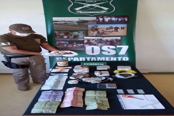 O.S.7 de Carabineros desbarato red de trafico de drogas en Vallenar