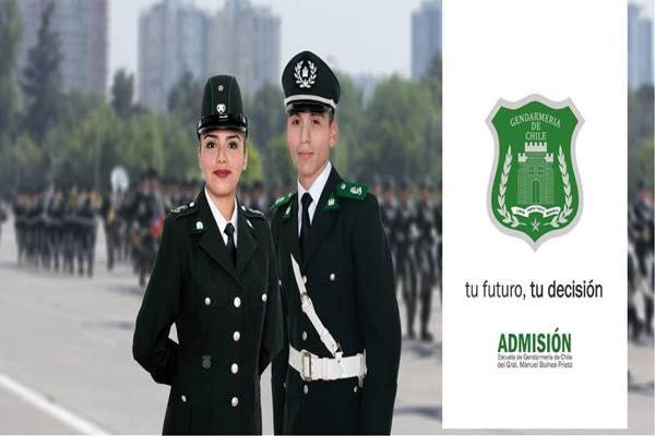 Información admisión aspirantes a oficiales de GENDARMERIA