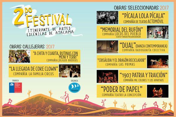 Dan a conocer seleccionados del 2° Festival Itinerante de Artes Escénicas de Atacama