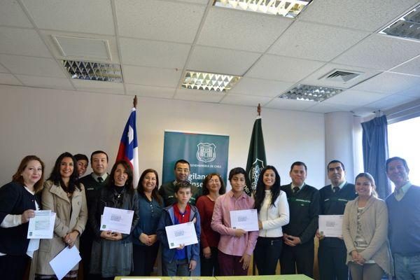 Servicio de bienestar de Gendarmeria en Atacama premio a hijos de funcionarios