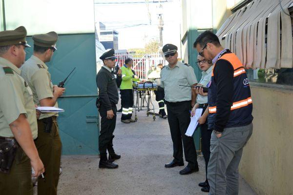 En unidad penal de Copiapo se realizo simulacro de incendio