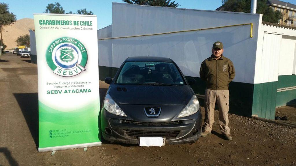 SEBV detuvo sujeto que conducía automóvil robado