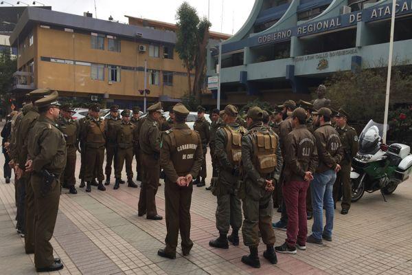 Carabineros reforzó servicios para prevenir delitos durante el partido entre Chile y Portugal