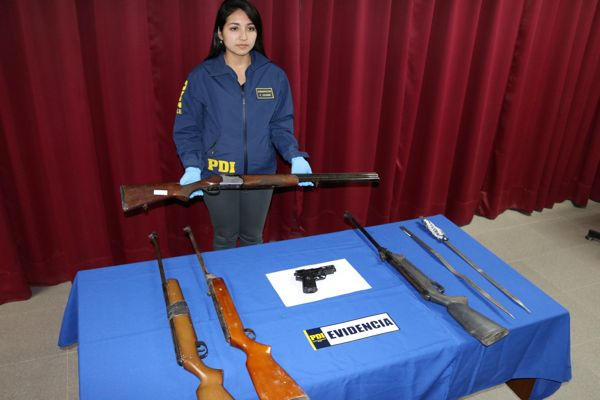 PDI incauta armas tras aclarar dos hechos de violencia en Vallenar