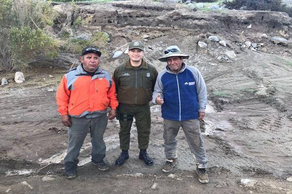 Carabineros rescato mineros atrapados al interior de Alto del Carmen