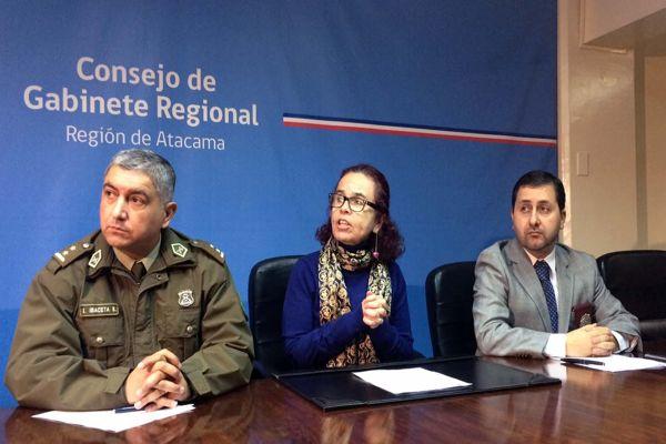 En 5,1% descendieron los delitos en Atacama