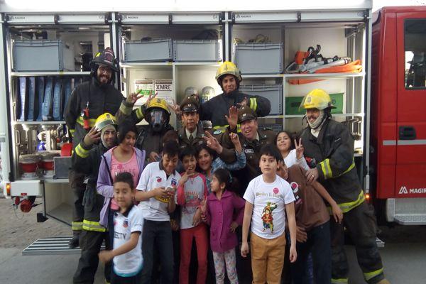 En Copiapo carabineros también festejo a los niños