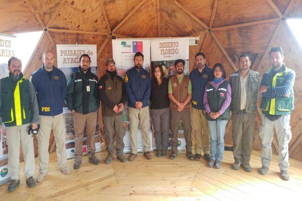 PDI Atacama educativa refuerza labor educativa en terreno por desierto florido y muerte de guanacos