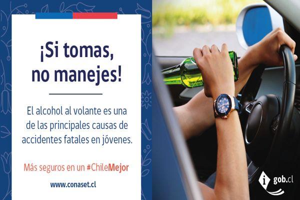 Ministerio de trasporte lanza campaña para prevenir accidentes de transito durante fiestas patrias