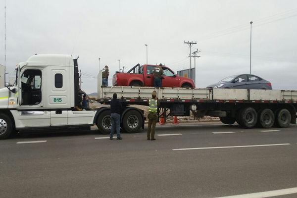 SEBV de carabineros previene a camioneros sobre delitos de robo