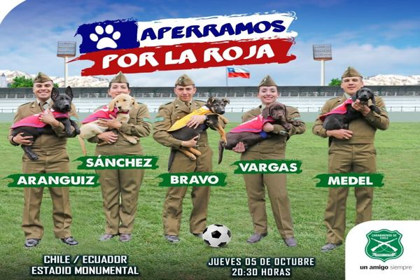 Carabineros lanzo vídeo apoyando a la selección chilena