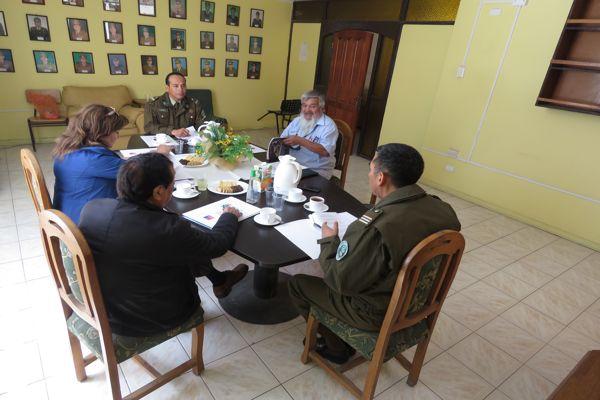 Carabineros y dirigentes vecinales de Copiapo analizan factores de riesgos