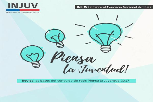 INJUV te invita a participar en el Concurso Nacional de Tesis de Pregrado #PiensaLaJuventud