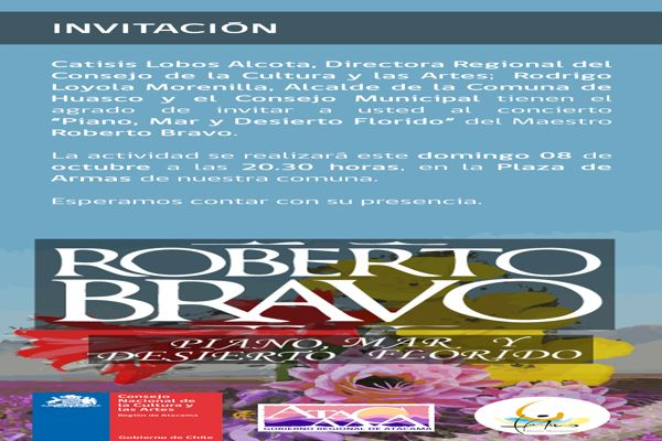 Pianista Roberto Bravo desplegará todo su talento en Huasco