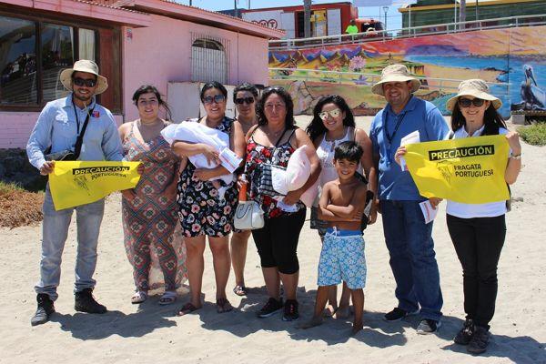 """Autoridades regionales refuerzan campaña """"Protégete en la playa contra la#FragataPortuguesa"""""""