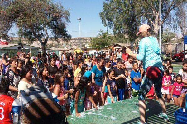 Este jueves continúa la fiesta de la espuma en Vallenar.